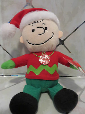 "NEW Peanuts Musical 10"" Plush Charlie Brown Plays ""Linus & Lucy"" DanDee"