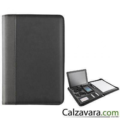 Cartella Porta Documenti Portablocco BlackMaxx Bionic&Business A4 con Power Bank