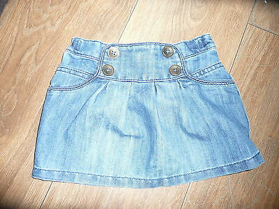 Lovely Cute Trendy Girls Denim Skirt by NEXT Size 9-12 Months. Fab for Summer