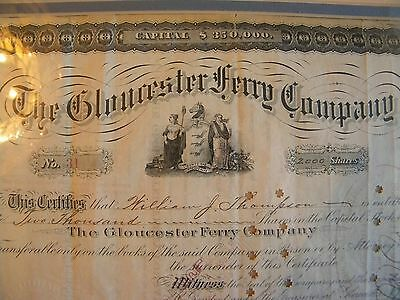 The Gloucester Ferry Company , Stock Certificate , William Thompson