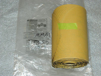 "New 3M 01357 Stikit Gold Film Disc Roll 6"" P240 Grit Sandpaper 125 Discs/roll"