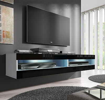 Mueble TV modelo Vera (160 cm) en color blanco y negro