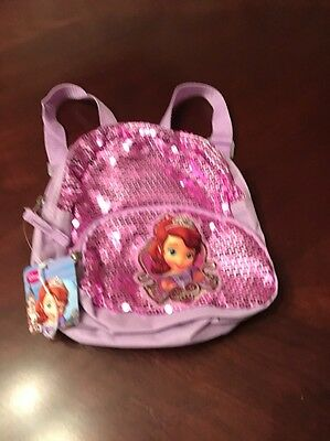 Disney Sophia the First Princess Girls Backpack School Travel Bag NEW
