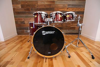 Premier Artist Maple 5 Piece Drum Kit Rosewood (Pre-Loved)