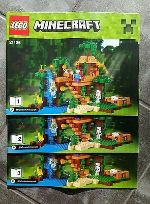 Lego 21125 Minecraft The  Jungle Tree House - INSTRUCTIONS ONLY