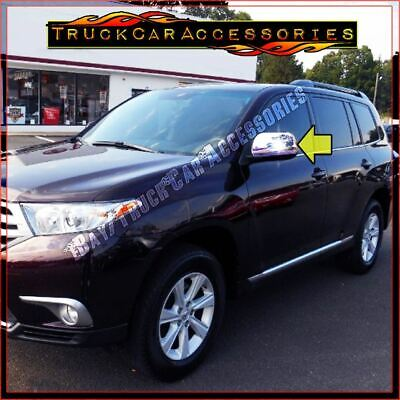 For TOYOTA Highlander 2008 2009 2010 2011 2012 2013 Chrome Mirror Covers WITHOUT