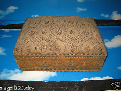 Antique Prayer Stool / Kneeler solid wood with padded cushion unrestored