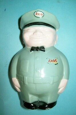 "Vintage 1950s Esso ""Fat Man"" Gas Station Attendant Bank"