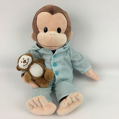 "Curious George Plush Stuffed Animal Applause 12"" Teddy Bear PJs Stocking Stuffer"