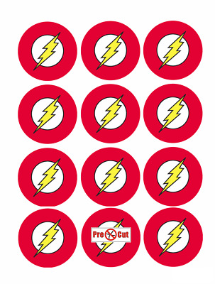 40 The Flash Cupcake Cake Toppers Decorations Edible Wafer Paper Pre Cut