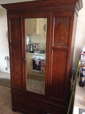 Beautiful Antique Wardrobe With Mirror