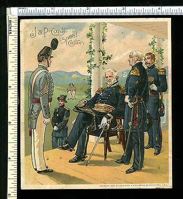 JP Coats Thread; Victorian Trade Card; Uniform of Army of United States1858-1861