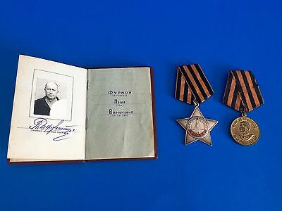 WW2 Russian The Order of Glory with Original Book