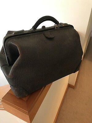 Antique Vintage Rugged Doctors Bag