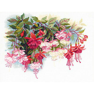 """Fuchsia Counted Cross Stitch Kit-15.75""""X11.75"""" 14 Count R1398"""
