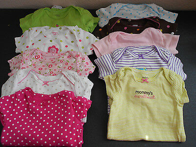 Baby Girl Clothes 9 mths Carters Good Lad 15 piece Summer Lot