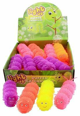 Bulk Lot x 6 FLASHING Spiked Puffer Caterpillars Kids New Party Favors Toys