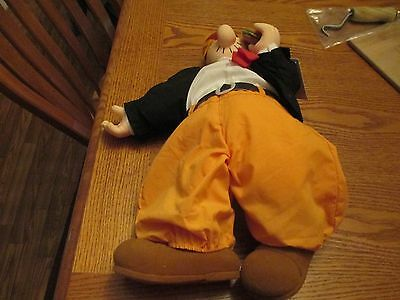 """1985 Wimpy From Popeye 18"""" Stuffed Doll From Presents For King Features"""