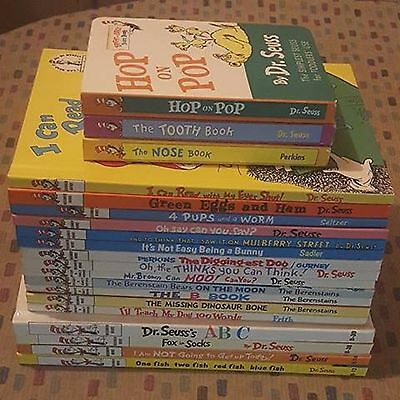 Lot of 20 Dr. Suess Books/ Berenstain bears HC Beginner and Bright & Early Books