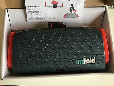 mifold Grab-and-Go Car Booster Seat Slate Grey EXCELLENT CONDITION