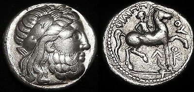 MORTOWN Phillip II (359-336 BC) Tetradrachm Amphipolis Zeus + Youth Incredible!