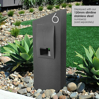 MONACO Pier LETTERBOX with 304 Stainless FRONT Pillar Mailbox with Weather Flap