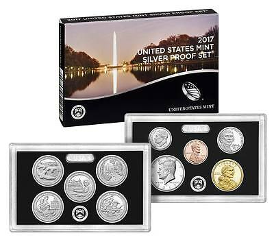 2017-S U.s. Mint 10 Coin Silver Proof Set - Half Dollar Penny Quarter (17Rh)