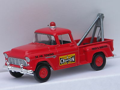 Fred's 55 Chevy Champion Tow Truck 1:43 rd for O Scale Lionel & MTH Model RR
