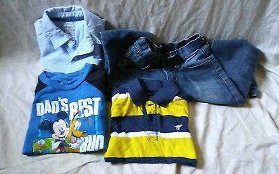 Lot of 5 Toddler Boys Size 4T Clothes PD&C Carter's