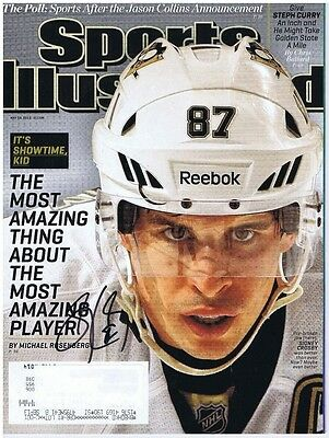 SIDNEY CROSBY SIGNED AUTOGRAPHED S.I. SPORTS ILLUSTRATED - Pittsburgh Penguins