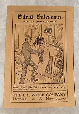 Vintage 1900's Silent Salesman Catalog #14 L.F. Weick Co Newark New Jersey
