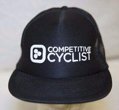 Unisex Competitive Cyclist Black Mesh Trucker Bicycle Cycling Snapback Cap Hat