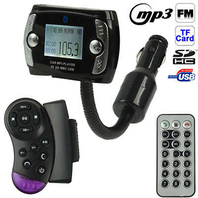 Bluetooth LCD Car Kit MP3 Player FM Transmitter Modulator USB Wireless Remote US