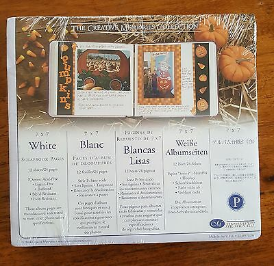 Creative Memories 7x7 Refill - White Pages - 12 sheets - BNIP