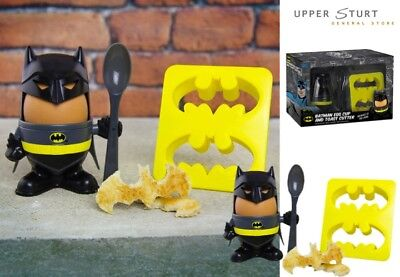 Batman – Egg Cup & Toast Stamp Superhero FAST 'N FREE DELIVERY