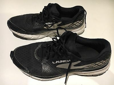 Brooks Launch, Black & White Mens runners, Sz 11.5 US, Used condition