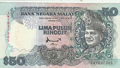 malaysia 50 ringgit vf+ 4 available
