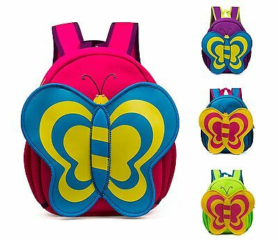 Kindergarten Children Cartoon Butterfly School Bags Kids Cute Baby Girl Backpack