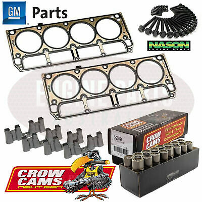 Holden LS1 5.7L GM Head Gaskets Nason Bolts Crow Cams Roller Lifter & Guide Kit