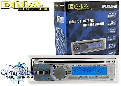 Dna Marine Cd Audio Player Bluetooth Usb Mp3 Boat Stereo System Am/fm Radio Ma5B