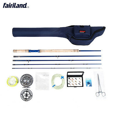 Fly Fishing set 6/7, 7/8, 8/9  Package with rod, reel, spare spool line combos