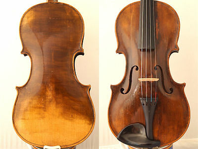 FINE 4/4 OLD MASTER Label: S. SERAPHIN ITALIAN VIOLIN OLD WOOD 小提琴 СКРИПКА GEIGE
