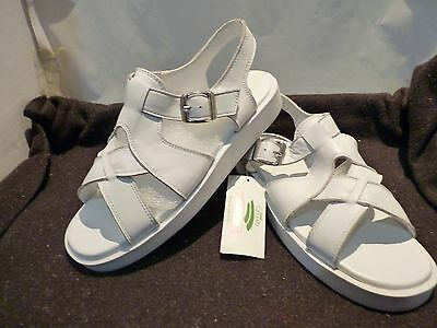 Leopard Circuit Leather Team Lawn Bowls Shoes/sandal Size Us 10 White New