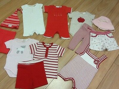Bulk Baby Girls Beautiful Mix & Match X 12 Seed & Pure Baby size 000 As New