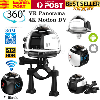 WiFi HD VR 360° Degree Sports Camera 4K 16MP DV Panoramic Action Video Camcorder