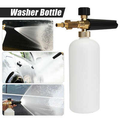 Pressure Washer Snow Foam Lance Sprayer Bottle + Adapter For Lavor Series New