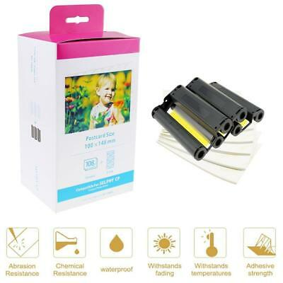 """Compatible for Canon KP-108IN Selphy Ink Toner Photo Paper 4 x 6"""" CP1200 CP900"""
