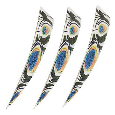 30x 4'' Shield Turkey Feathers Fletching Hunting Wood Bamboo Arrows Right Wing