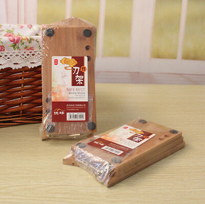 Home Practical Detachable Bamboo Wood Kitchen Knife Block Stand Holder New