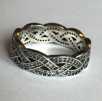 Genuine Sterling Silver 925 Silver Braid Ring Sizes 52, 54, 56 Celtic band
